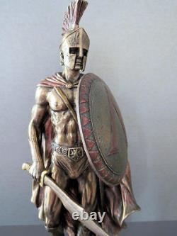 Leonidas the king of Sparta Cold Cast Bronze statue 26 cm 10.23 inches