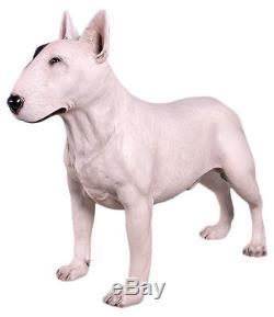 Life Size Bull Terrier Dog Statue 85cm Resin English Terrier Pet Animal Figure