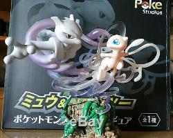 Limited Mew Mewtwo Resin Statue GK Figure Poke Studios Pokémon Strikes Back