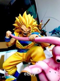 MRC Dj Dragon Ball Z Super Saiyan 3 Son Goku Kid Majin Buu Resin Statue Figure