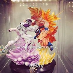 MRC Recast Dragon Ball Z Super Saiyan Son Goku Vs Frieza Resin Statue Figure