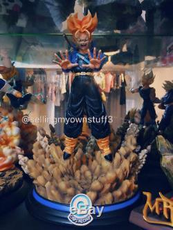 MRC Recast Tensai Dragon Ball Z Super Saiyan Trunks Resin Statue Figure Goku