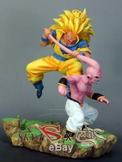MRC SSJ3 Super Saiyan 3 Son Goku vs Kid Buu Resin Statue Figure 2 blue MUI Gohan