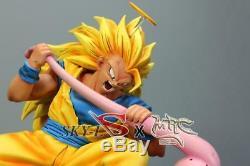 MRC & Sky Dragon Ball Z Goku SSJ3 VS Majin Kid Buu Resin Statue Figure with COA