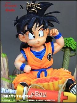 MRC Tensai Dragon Ball Z Kid Gohan Training Resin Statue Figure Goku Piccolo