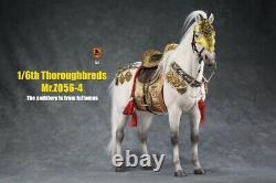 MR. Z MRZ056-4 1/6 No Harness White Horse Thoroughbreds Statue Fit 12'' Figure