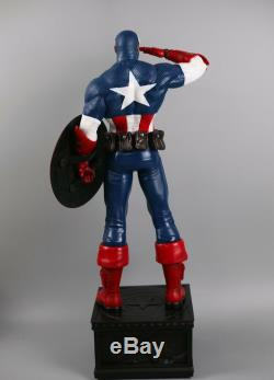 Marvel Avengers Captain America Statue 1/4 Scale Oversized Figure Double Heads
