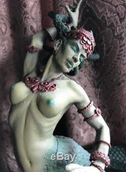 Medusa FULL COLOR Sculpture Handmade Statue Figurine Art Artwork Carved Figure