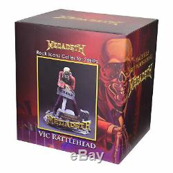 Megadeth 2017 KnuckleBonz Rock Iconz Vic Rattlehead Peace Sells Statue Figure