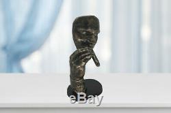 Modern Art Decor Sculpture Man Smoking Cigar Havana Man Abstract Bronzed Statue