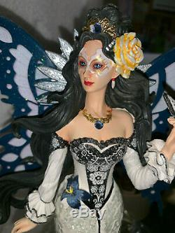 Mosaic Fairy Nene Thomas Doll Statue Figure Twilight Glass Mosaic Resin 12