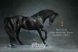 Mr. Z 1/6 Black Akhal-teke Horses No Harness Fergana Horse Animal Figure Statue