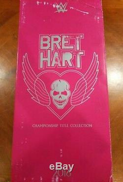 NEW WWE Bret Hitman Hart Championship Title Collection Statue Resin Figure NIB