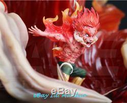 Naruto Might Guy Figure GK Resin Statue Garage Kit LED Light Figure 12.5''H