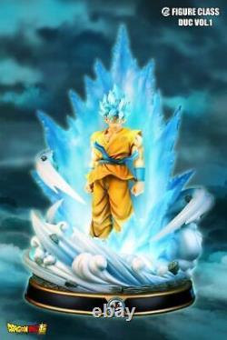 New FC Figure Class SSGSS Goku Blue Resin Statue Figure Dragon Ball Super Z DBZ