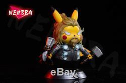Newbra Studio Pokemon Pikachu X Thor Endgame Resin Statue Cos Action Figure NEW