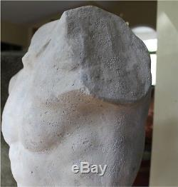 Nude Michelangelo Style Roman Art Figure Statue Sculpture Faux Marble Stone