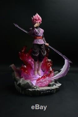 OI Studios Dragonball Z Super Saiyan Rose Goku Black Resin Statue Figure LED NEW