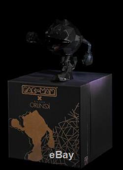 PAC-MAN x Orlinski Statue Figure Vinyl Official Resin Sculpture Black Bandai