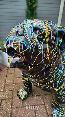 Painted Fibreglass / Resin Large Bulldog Statue / Figure