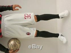 Pro-finished 1/6 12 David Beckham AC Milan Football Soccer Resin Statue Figure