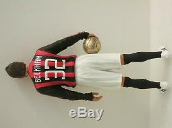 Pro-finished 1/6 12 David Beckham AC Milan Football Soccer Resin Statue Figure