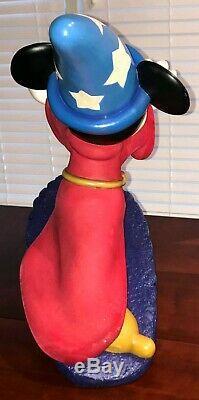 Rare Disney Figure Mickey Mouse Sorcerer Apprentice Resin Statue Figurine