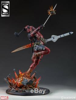 SIDESHOW EXCLUSIVE DEADPOOL Heat-Seeker PREMIUM FORMAT FIGURE STATUE Avengers