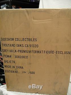 SIDESHOW EXCLUSIVE Grey HULK PREMIUM FORMAT FIGURE STATUE Retro Shirt Red Bust