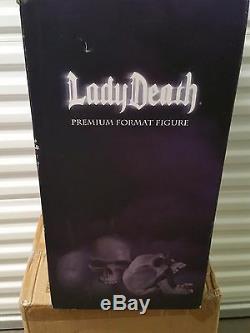 SIDESHOW EXCLUSIVE Lady DEATH 1/4 Scale PREMIUM FORMAT FIGURE NIB! STATUE Bust