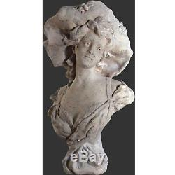 Suzanne Bust Life Size Lady Figure 71cm Stone Effect Resin Garden/indoor Statue