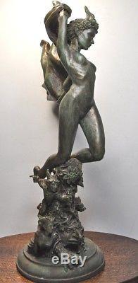 Titania Sculpture Nude Statue Figure Figurine Resin Artwork Carved Collectible