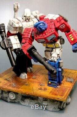 Transformers G1 Battlefield Optimus Prime vs Megatron Statue F4F First4Figures