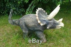 Triceratop 2 Garden Statue Resin Medium Size Dinosaur Figure