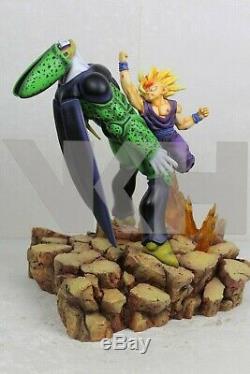 VKH Dragon Ball SSJ2 Super Saiyan Gohan vs Perfect Cell Resin Statue Figure MRC