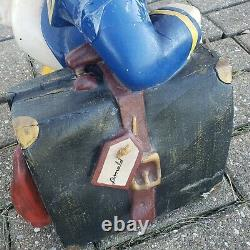 Vintage Disney Donald Duck Leaning On Suitcase Poly Resin Statue Figure 22