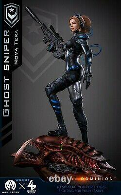 WAR STORY X GHOST FOUR 1/4 WG001 Ghost Sniper Nova Tera Resin Figure Statue Toys
