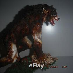 Werewolf Wolfman statue Fenris Fenrir Lycan Figure Wolfen OVER 12 RARE