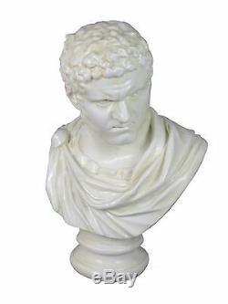 White Caracalla Marcus Aurelius Vintage Roman Statue Bust Ornament Figurine New
