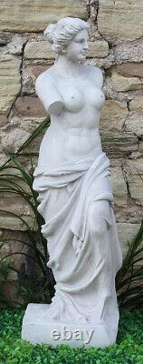 White Stone Effect Lady Figure Venus De Milo Sculpture Garden Statue Ornament