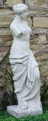 White Stone Effect Lady Figure Venus Large Sculpture Garden Statue Ornament
