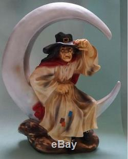 Witch on the Moon Garden Statue Resin 76 cm high Fairy Tale Harridan Figure